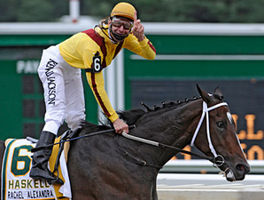 Super Filly Rachel Alexandra to Woodward