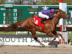 Rainbow Heir wins an allowance on May 12, 2013.
