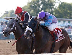Rattlesnake Bridge wins the 2011 Long Branch Stakes.