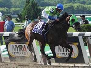 Redeemed wins the 2012 Brooklyn Handicap.