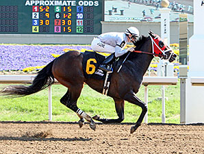 Rivers Run Deep wins the 2014 Tall Stack Stakes at Belterra Park.