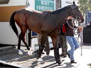 Rocket Man arrives in Hong Kong December 2011.