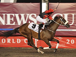 Rocket Man wins the 2011 Dubai Golden Shaheen.