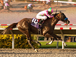 Rolling Fog wins the 2012 Del Mar Futurity.