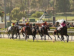 Room Service wins the 2014 American Oaks.