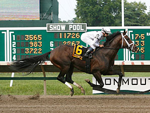 Rule wins the 2012 Monmouth Cup.