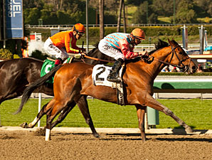 Rumor wins the Las Flores Stakes.