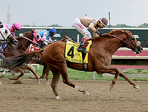 Rustler Hustler wins the 2014 Banjo Picker Sprint Stakes.