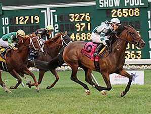 Rusty Slipper wins the 2014 Violet Stakes.