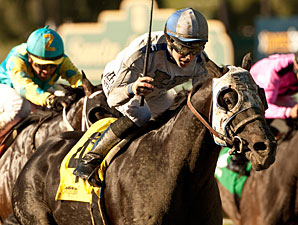 Sahara Sky wins the 2013 Palos Verdes.