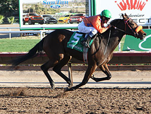 Sallyana wins the 2012 Arizona Breeders' Futurity Fillies Division.