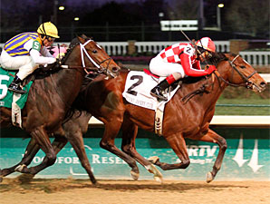 Santiva wins the 2010 Kentucky Jockey Club.