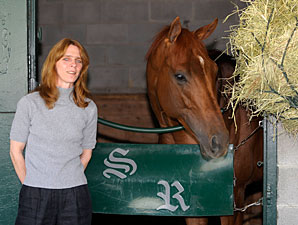 Shannon Ritter and Endorsement at Keeneland on April 15, 2010.