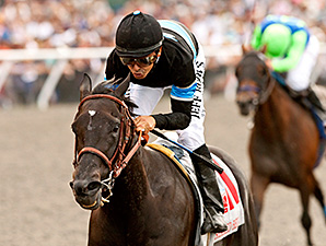 Shared Belief wins the Pacific Classic.