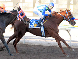 Show Some Magic wins the Riley Allison Futurity.