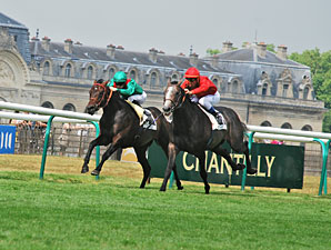 Silver Pond, outside, wins the Grand Prix de Chantilly.