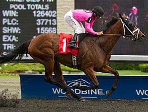 Sisterly Love wins the 2013 Trillium Stakes.