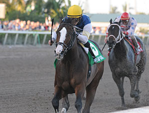 Soaring Empire wins the 2011 Hal's Hope.