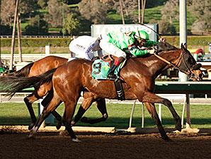 Spirit Rules wins the 2015 Donald Valpredo California Cup Sprint Stakes.