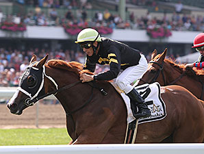 Starstruck wins the Matchmaker Stakes 7/27/2014.