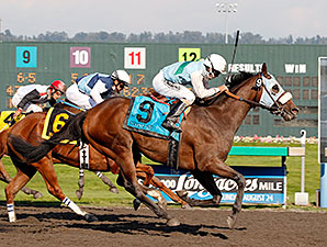 Stryker Phd wins the 2014 Longacres Mile.