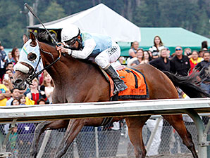 Stryker Phd wins the 2014 Mt. Rainier Handicap.