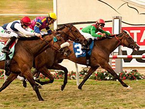 Summer Soiree wins the 2011 Del Mar Oaks.