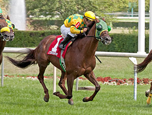 Suntracer wins the 2012 Illinois Owners Stakes Open Division.