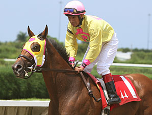 Tahoe Warrior wins the 2010 Bob Umphrey Turf Sprint Handicap.