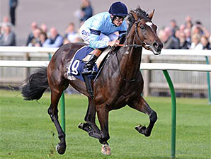 Telescope ridden by Richard Hughes in the British Stallion Studs Supporting British Racing E.B.F. Maiden Stakes.