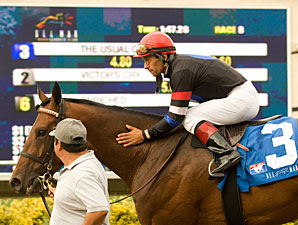 The Usual Q. T. wins the 2010 Eddie Read.