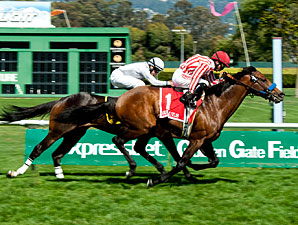 Tigah wins the San Francisco Mile.