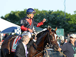 Tonalist wins the 2014 Belmont Stakes.