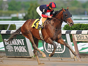 Tonalist wins the 2014 Peter Pan Stakes.