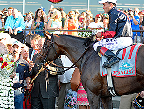 Tonalist wins the Belmont Stakes June 7.