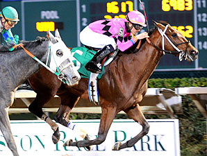 Tour Guide wins the Allen's Landing Stakes.