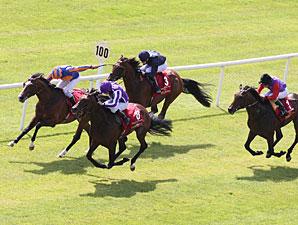 Treasure Beach wins the Irish Derby, Far Side 2nd, Memphis Tennessee 3rd and Carlton House 4th.