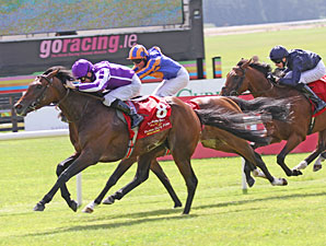 Treasure Beach wins the 2011 Irish Derby.