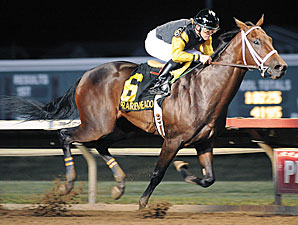 Uh Oh Bango wins the 2009 Prairie Meadows Freshman Stakes.