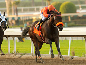 Uh Oh Bango wins the 2012 San Pasqual.