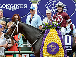 Untapable wins the 2014 Breeders' Cup Distaff.