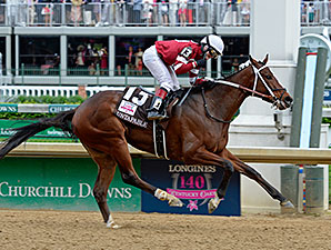 Untapable wins the 2014 Longines Kentucky Oaks.