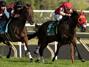 Up With the Birds wins the Breeders' Stakes.