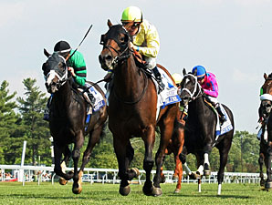 Upperline wins the 2012 Bewitch Stakes.