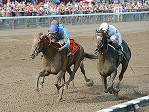 V. E. Day wins the 2014 Curlin Stakes.