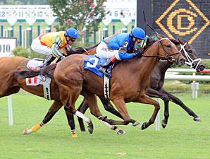 Vanquisher wins the 2010 Kitten's Joy.