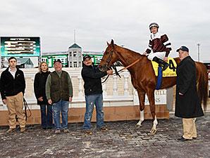 Villandry wins the 2014 River City Handicap.