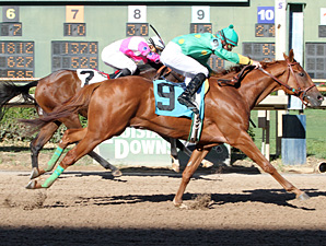Wargamer wins the 2013 Razorback Futurity.