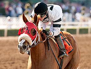 Warren's Veneda wins the 2015 Santa Margarita Stakes.