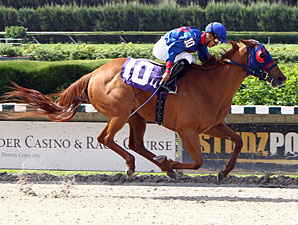 Wildcat Lily wins the 2013 Leave Me Alone Stakes.